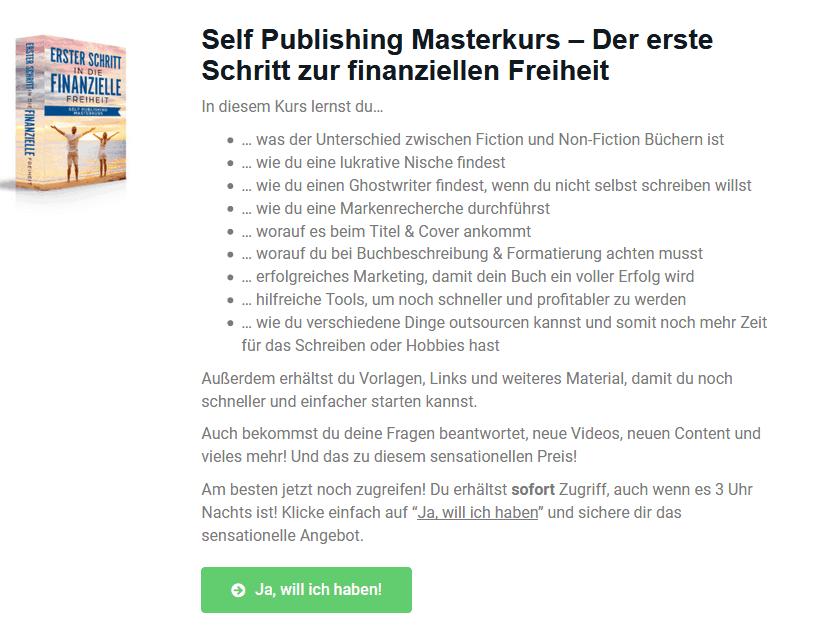 self publishing masterkurs